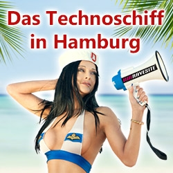 Neues Techno-Partyschiff am 01.09. in Hamburg